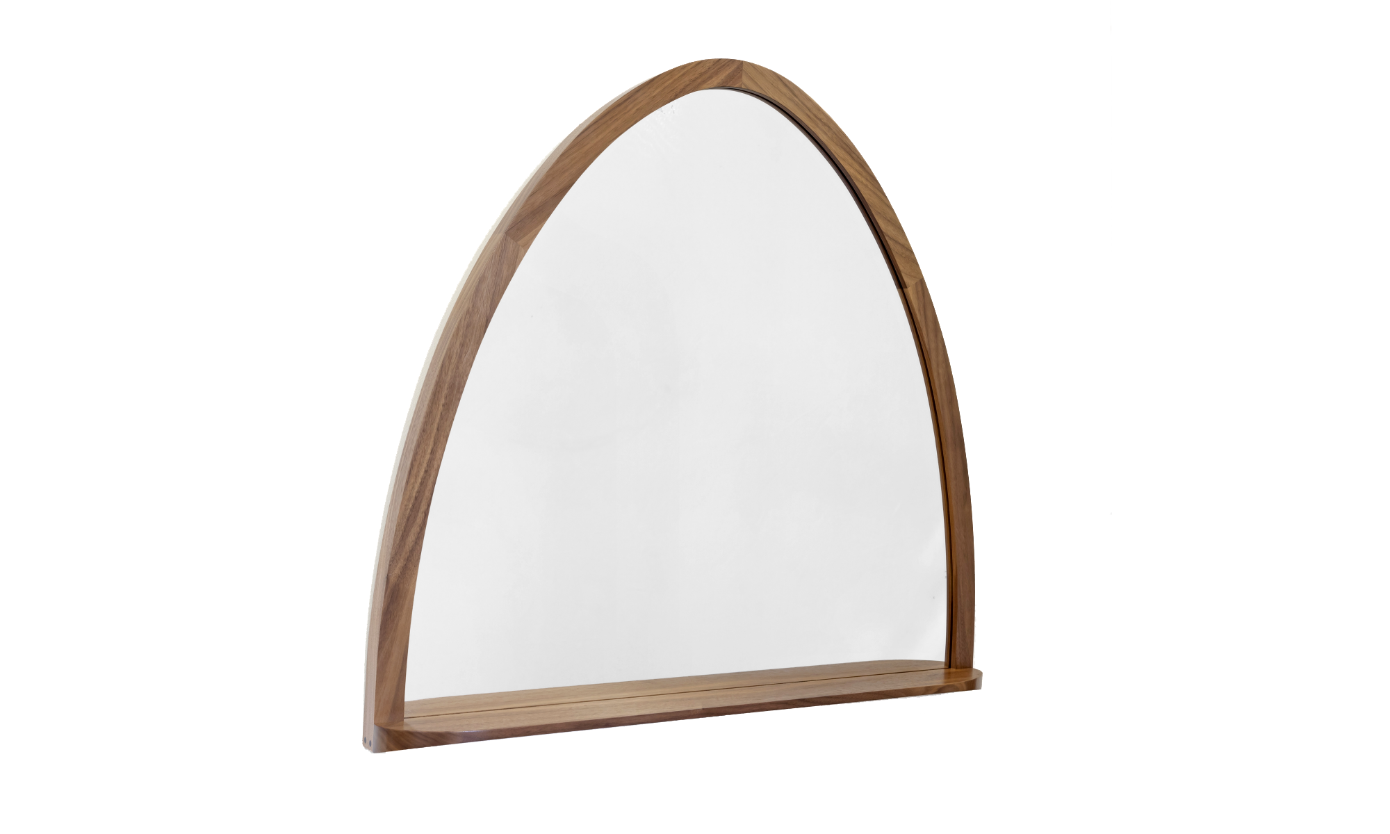 image of bespoke handcrafted walnut mirror